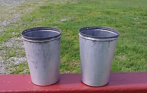 2 Nice Old Tall Tin Sap Buckets Bucket Flowers Planters
