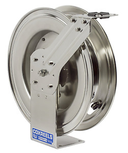 New Coxreels Spring Driven Hose Reel Stainless Steel Oxy Act 300 Psi Max