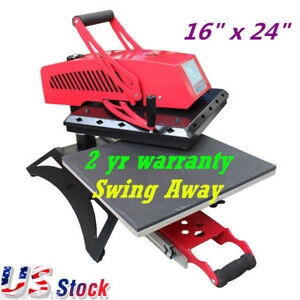 Us 16 x24 New Swing Away Manual Heat Press Machine For T shirt Sublimation 110v