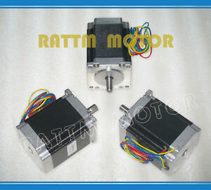 Cnc 3pcs Nema23 270oz in 76mm Stepper stepping Motor 3a For Cnc Router Machine