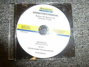 New Holland Boomer 40 50 Compact Tractor Owner Operator Maintenance Manual Cd