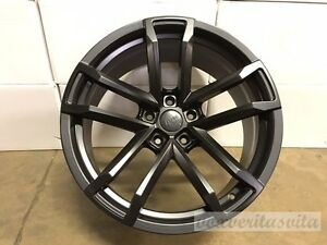 New Matte Black 20 Staggered Wheels Rims Fits 2010 Chevrolet Camaro Z28