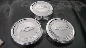 3 Chevy Dog Dish Hubcaps Wheel Cover 10 1 2 Ton Or S10
