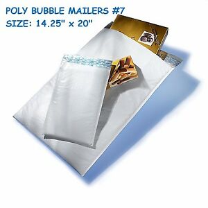 50 Poly Bubble Mailer Padded Shipping Envelope Self Sealing Bags 14 25 X 20 7