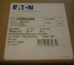 Eaton Csr2200n 200 Amp Main Circuit Breaker New In Box