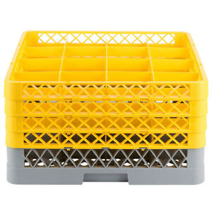 Commercial Dishwasher Machine 16 Cup Glass Tray Rack 4 Extenders Dishwashing