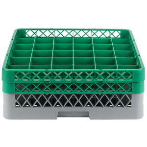 Commercial Dishwasher Machine 36 Cup Glass Tray Rack 2 Extenders Dishwashing