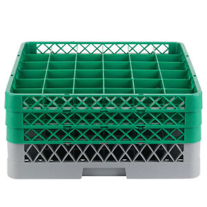 Commercial Dishwasher Machine 36 Cup Glass Tray Rack 3 Extenders Dishwashing