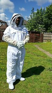 Beekeeper Suit Beekeeping Bee Suit With Fencing Veil Including Bee Gloves large
