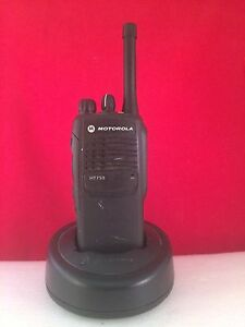 Motorola Ht750 Uhf 450 512 Mhz Radio 4w 4ch With Charger