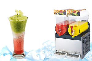 Commercial 2 Tank Frozen Drink Slush Slushy Making Machine Smoothie Maker 30 L