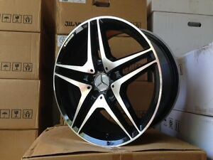 19 Mercedes Benz Amg Black Rims Wheels W204 W205 C250 C300 C350 C400