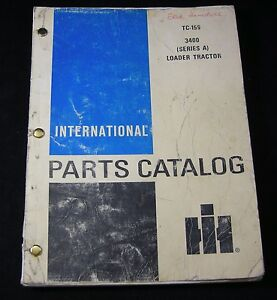 International Harvester Ih Loader Tractor 3400 Series A Parts Manual Catalog