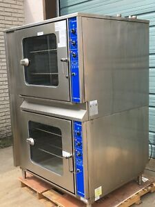 Cleveland Combi Gas Convection Oven Steamers Full Size Double Stacked Ccg 227x