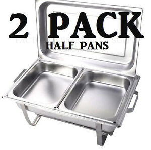 Inserts Only 2 Pack 2 1 2 Deep Stainless Steel Chafing Dish Chafer Pan Half