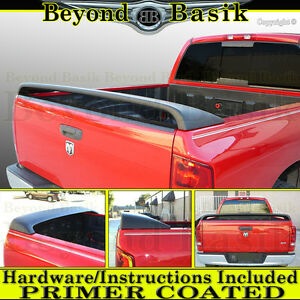 For 2002 2008 Dodge Ram 1500 Srt Srt10 Style Truck Bed Spoiler Rear Wing Primer