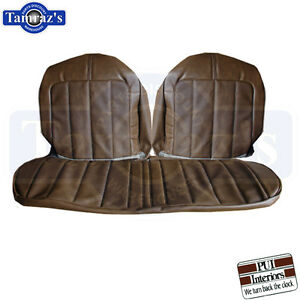 70 Skylark Front Seat Covers Upholstery Custom Gs Dark Saddle Bench Clearance