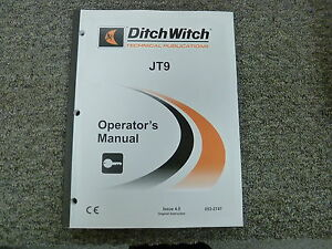 Ditch Witch Model Jt9 Directional Drill Owner Operator Maintenance Manual Book