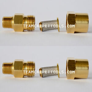 In line Filter Brass 1 4 Carpet Cleaning Wands Hoses Truckmount Portable 2ct