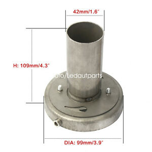 Removable 4 Exhaust Muffler Silencer Tip Adjustable 201 Stainless Steel