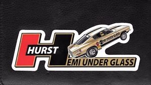 Hurst Hemi Under Glass Wheelstander Decal Sticker Mopar Nhra Ihra Drag Racing
