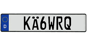 Usa Custom Made Euro Style Tag Vw Bmw 3 5 M Series European License Plate Mini