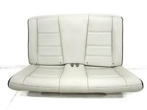 Convertible Ford Mustang White Leather Rear Seat 1999 2000 2001 2002 2003 2004