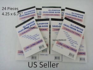 24x Sales Order Book Receipt 50 Duplicate Forms Carbon New Us Seller
