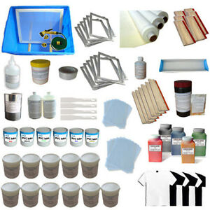 6 Color Silk Screen Printing Materials Package Squeegee Ink Consumable Kit