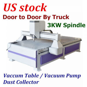 Us 51 X 98 1325 Ad And Woodworking Cnc Router Machine 3kw Spindle Vaccum Table