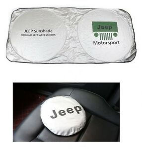 Jeep Sun Shade Windshield Foldable Cover Visor Heat Uv Isolate Wrangler Rubicon