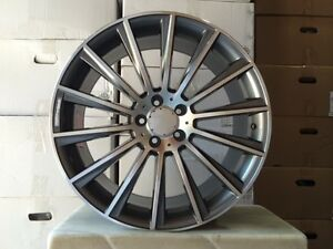 4 Set Of Brand New S550 Style 22 Amg Gunmetal Rims Wheels Fits Mercedes Benz