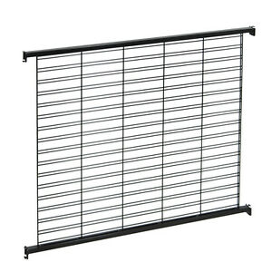 Retails Black Metal Queuing System Wire Slatwall Panel Wall 48 w X 43 h