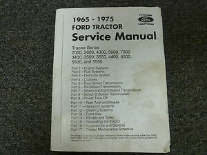 1965 1975 Ford 2000 3000 4000 5000 7000 3400 Tractor Shop Service Repair Manual