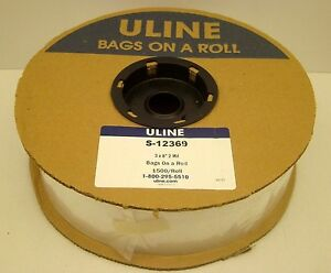 Uline S 12369 3 X 8 Polybag 2 Mil 1500 Bags On A Roll Autobag Plastic New