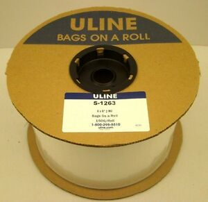 Uline S 1263 6 X 8 Polybag 2 Mil 1500 Bags On A Roll Autobag Plastic New Usa