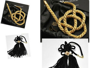 Vip Charm Junction Produce Car Fusa Black Kiku Jp Knot Gold Kin Tsuna Rope