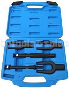 5 Pc Tie Rod Ball Joint Pitman Arm Remover Separator Pickle Fork Tool Kit Hd