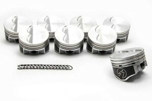 Speed Pro Chevy 350 Hypereutectic Coated Flat Top 2vr Pistons Set 8 9 7 1 040