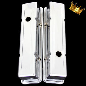 Valve Covers For Sbc Small Block Chevy 327 350 383 400 Tall Chrome 1959 To 1985