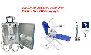 Dental Portable Unit dental Chair With Led Lamp And Water Supply curing Light