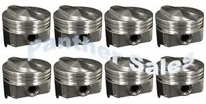 Chevy 7 4 454 Silvolite Hypereutectic Coated Skirt 30cc Dome Pistons Set 8 030