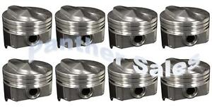 Chevy 7 4 454 Silvolite Hypereutectic Coated Skirt 30cc Dome Pistons Set 8 060