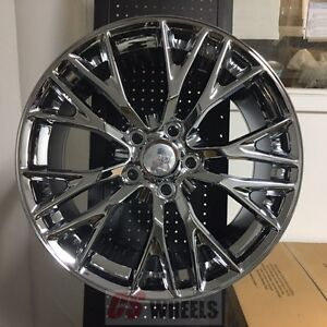 19 20 Z06 Zo6 Style Chrome Wheels Rims Fits 2005 2013 Chevy Corvette C6 Base