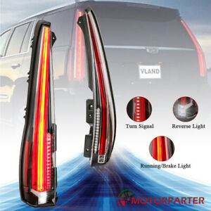 Tail Lights For 07 14 Cadillac Escalade Esv Red Rear Lamp 2016 Version Lh