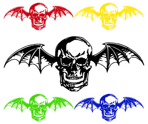 Large Avenged Sevenfold Deathbat A7x Vinyl Wall Sticker Car Window Decal 25 55
