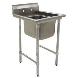Eagle Group 414 24 1 One 24 Bowl Stainless Steel Commercial Compartment Sink