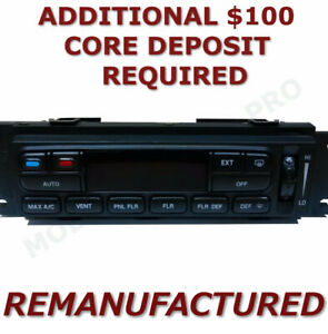 Reman 02 03 Ford F150 A c Heater Climate Control With Rear Defroster Eatc exch
