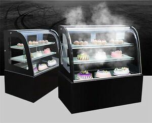 220v Refrigerated Cake Showcase Commercial Pie Display Case Cabinet Us Shipping
