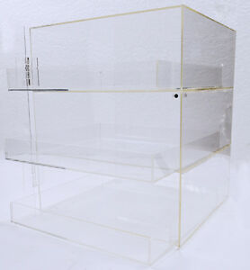 3 Trays Bakery Pastry Display Case Figures Toys Box Candy Donut Self Serve Store